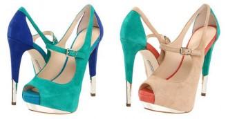 Nikeya colourblock peep toes