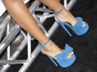 Blue suede Giuseppe Zanotti sandals