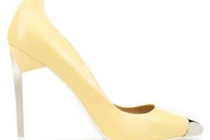 Zara lemon toecap shoes