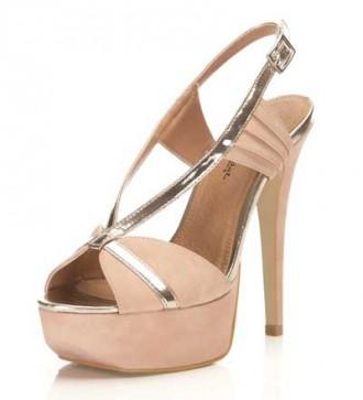Miss Selfridge Harper pink fan sandals