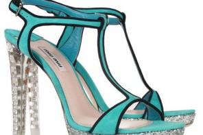 Miu Miu crystal gliitter sandals