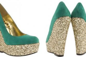 Schuh 'Princess' glitter wedges