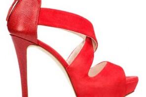 Zara red suede crosscross sandals