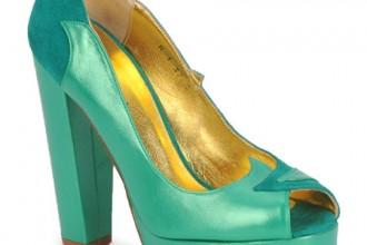Terry de Haviland green peep toes