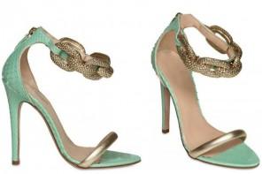 Guambattista Valli green and gold sandals