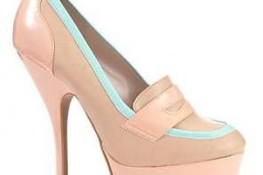 high heel loafers