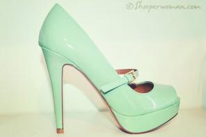 mint green stiletto shoes