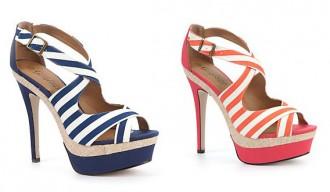 New Look stripey platform sandals