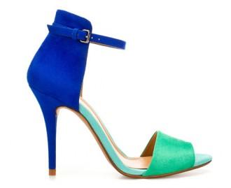 Zara colourblock sandals