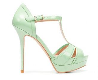Zara mint green t-bar sandals
