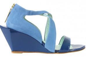 Atalanta Weller blue wedge shoes