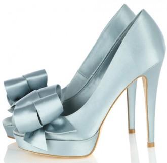 Karen Millen satin bow peep toes