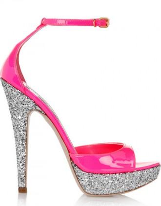 Miu Miu pink glitter sandals