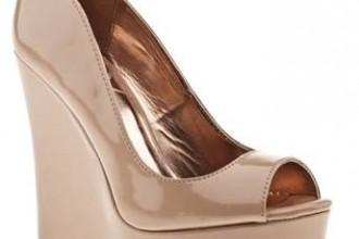 Schuh nude platform wedge shoes