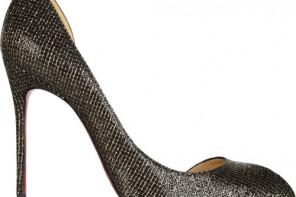 Christian Louboutin Chiarana 100 glittered-leather pumps