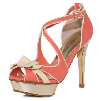 coral platform sandals