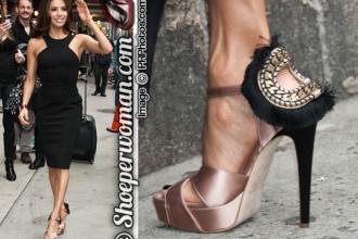 Eva Longoria in Brian Atwood 'Vanity' sandals