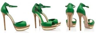 green platform sandals