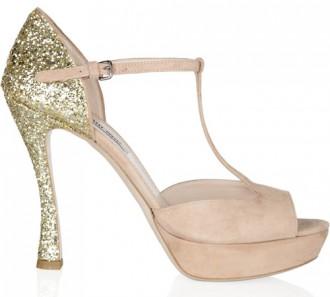 Miu Miu glitter t-bar sandals