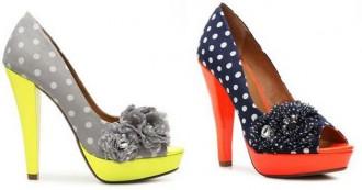 polka dot peep toe shoes