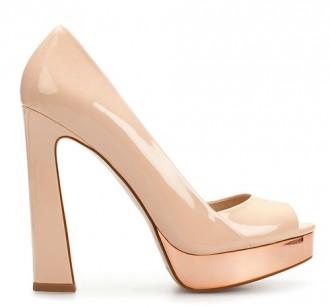 Zara flare heel peep toes