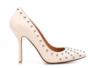 zara white studded court shoes