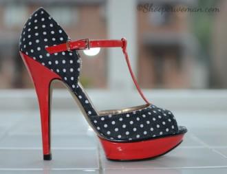 Schuh 'Betsey' polka-dot t-bar shoes