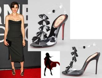 Celebrity Shoes: Rachel Weisz in Christian Louboutin Bow Bow t-strap sandals