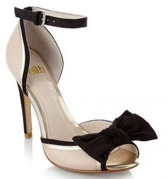 Faith cream bow peep toes