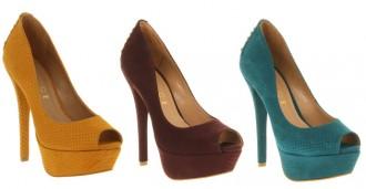 Office 'Serpent' platform peep toes with studded heels
