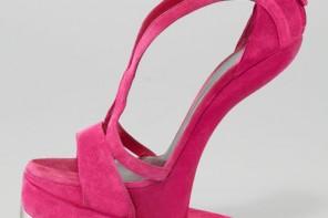 Alexander McQueen Pink Runway Platform No-Heel Sandals