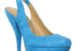 blue suede slingback shoes