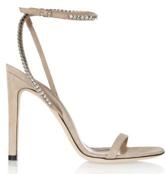 Gucci crystal-embellished suede sandals
