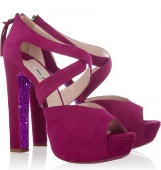 Miu Miu glitter sole sandals