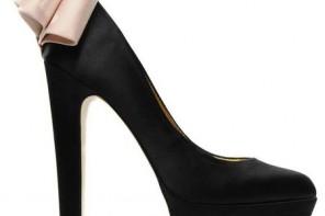 Ted Baker 'Oaker' black embellished heel platform pumps