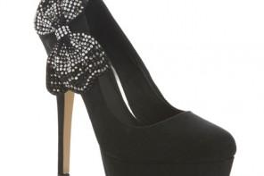 Miss Selfridge star embellished bow heels
