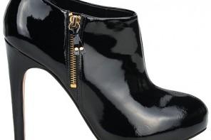 Carvela start black patent shoe boots