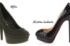 Shoe Deja Vu: Christian Louboutin Alti spike pumps Vs Office 'Starlight' pumps