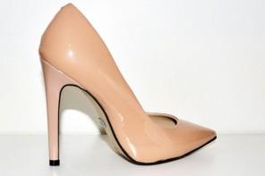 Buffalo 'Beyza' nude patent court shoes
