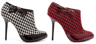 Paris Hilton 'Sierra' houndstooth shoe boots