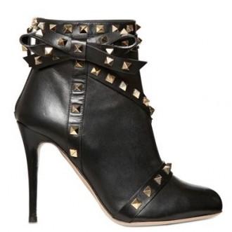Valentino 100mm rock stud bow boots