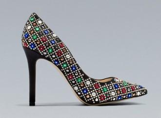 Zara mirrored court shoes