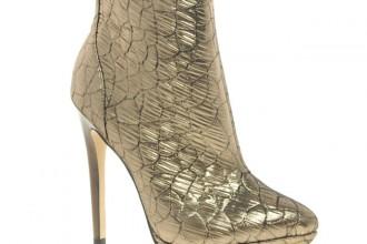 ASOS 'Audrey' bronze brocade ankle boots