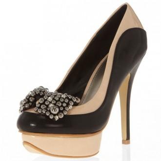 bow platform shoes
