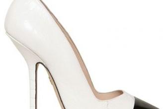 Emilio Pucci black and white toecap pumps