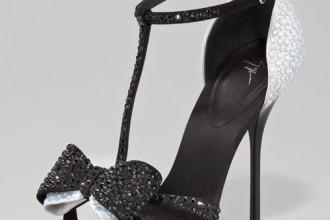 Giuseppe Zanotti Bejeweled Two-Tone Bow-Toe Sandal