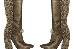 gold missoni boots