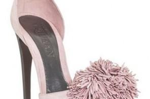 Alexander McQueen pink pom pom high-heel shoes