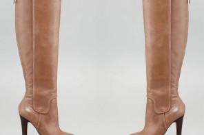 Diane Von Furstenberg taupe knee-high boots