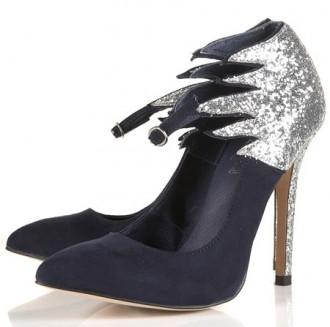 Topshop 'Gasoline' glitter flame heels